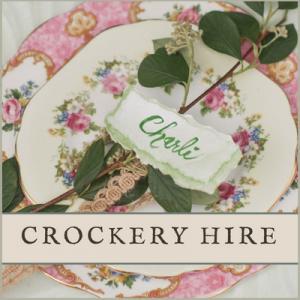 Vintage Crockery hire