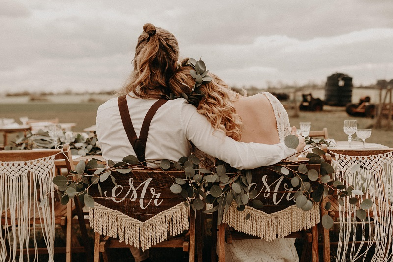 Boho wedding in Essex