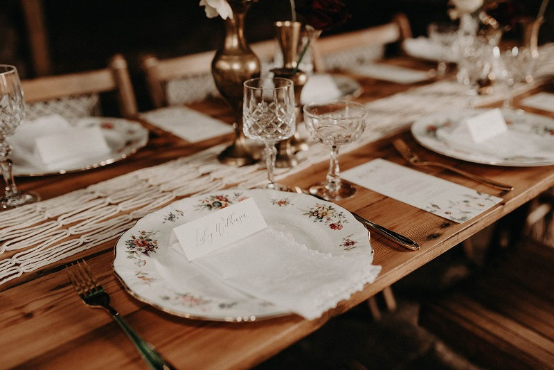 Vintage plate hire for weddings and events