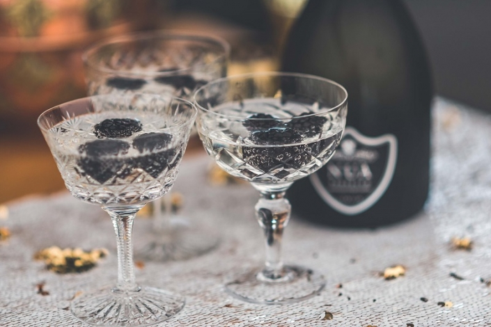 Vintage Champagne Glasses for Hire