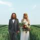 Outside wedding in corn field