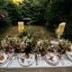 Crockery hire for boho English woodland wedding