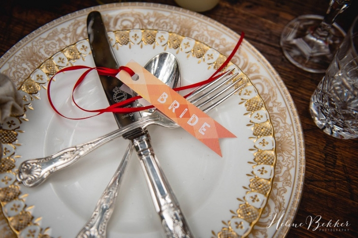 Vintage plate hire for wedding
