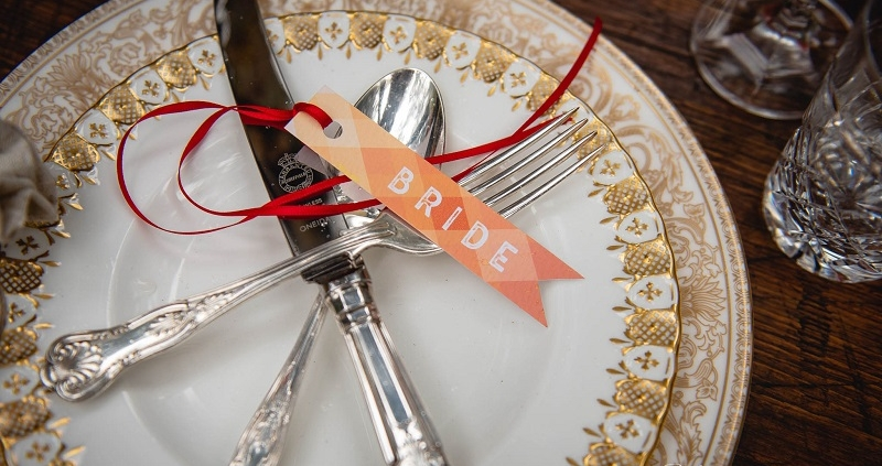 Vintage Plate hire for weddings in Kent