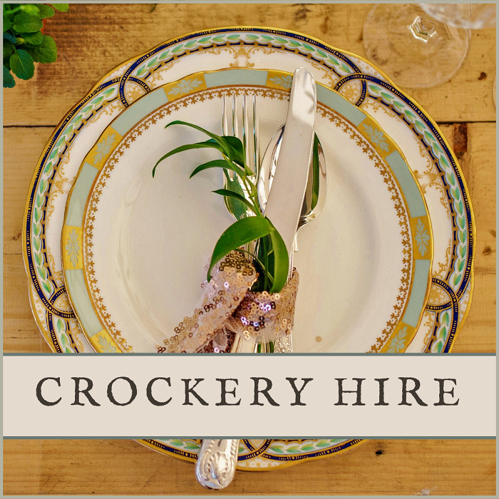 Vintage Crockery Hire for Weddings in Sussex