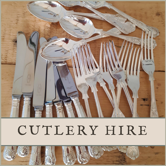 Vintage silver wedding cutlery for hire