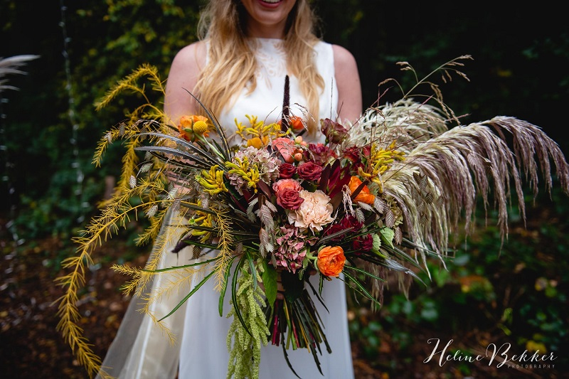 Woodland wedding bouquet by Bohotanical