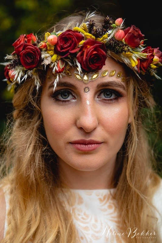 Woodland wedding flower crown