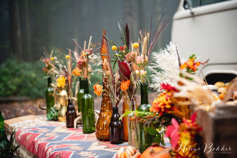 woodland wedding decoration for autumn