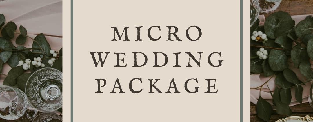 Micro wedding tableware hire package in Sussex